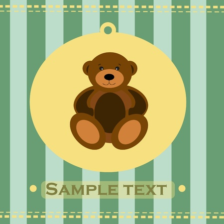 Greeting card with bear. Stock Vector - 8745659