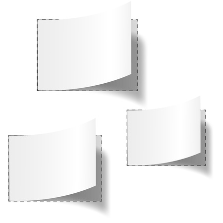 Set of three white blank tags. Vector eps10 illustration Stock Vector - 8943813