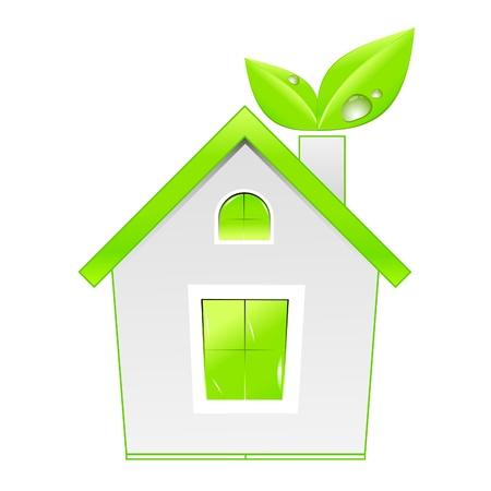 Green house icon. Ecology concept. Vector eps10 illustration Vector