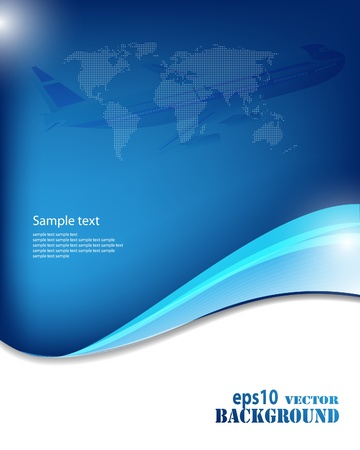 Abstract blue business background. Vector eps10 illustration Vector