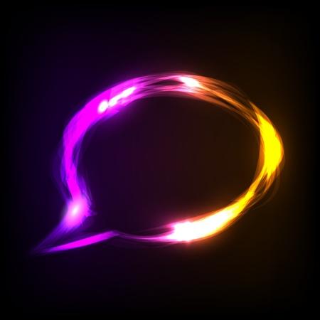 Abstract colorful neon speech bubble. Vector eps10 illustration Stock Vector - 8943814