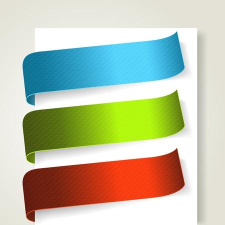 promo: Set di etichette colorate tessile.