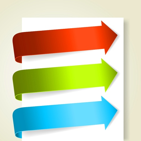 Set of colorful arrows.
