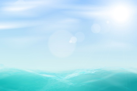 Abstract beautiful sea and sky background.