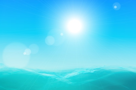 Abstract beautiful sea and sky background.  Vector