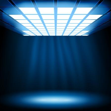 Luz azul abstracta.