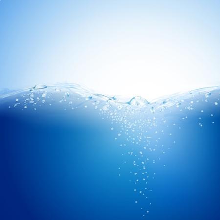 Blauwe water achtergrond.