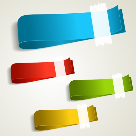 Set of colorful tag labels. Vector eps10 illustration Vector