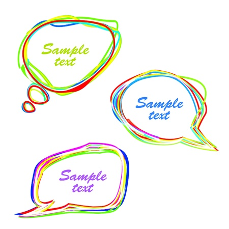 Set of abstract multicolored speech bubbles. Vector eps10 illustration Stock Vector - 9572577