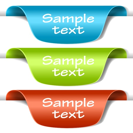 Set of multicolored tag labels. Vector eps10 illustration Vector