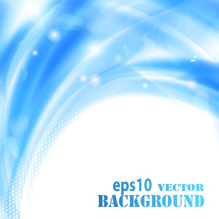 Abstract light blue background. Vector eps10 illustration Stock Vector - 9572589