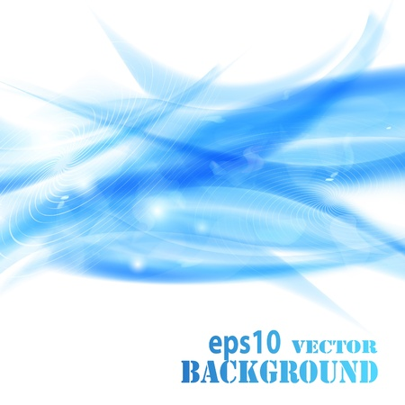 Abstract blue waves background. Vector eps10 illustration Stock Vector - 9572582