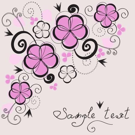 Elegant floral vintage background. Stock Vector - 9680139