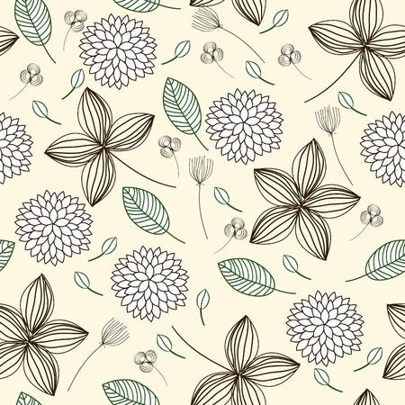 Elegant floral seamless background. Vector