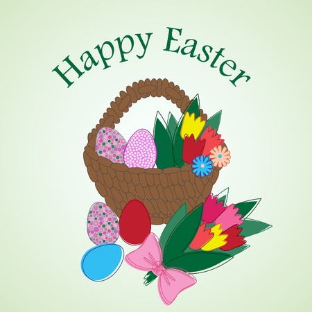 Easter greeting card. Vector