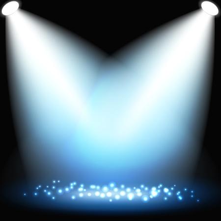 Abstract dark background with spotlights. Vector eps10 illustration Illustration