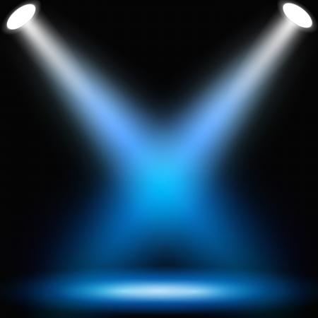 spotlights: Fondo oscuro abstracto con focos. Ilustraci�n de vector eps10