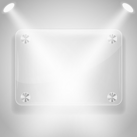Glass framework with spotlights. Vector eps10 illustration Vector