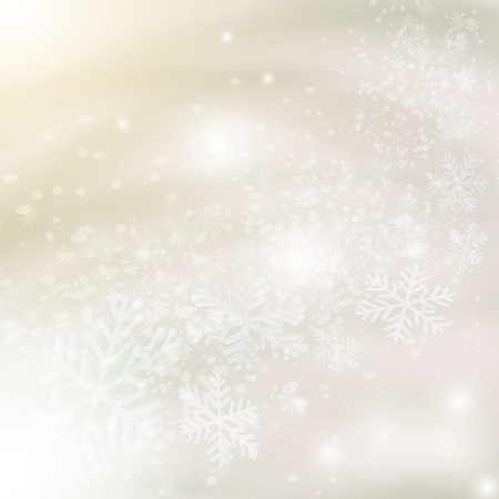Abstract light grey christmas background with snowflakes. Vector eps10 illustration Illustration