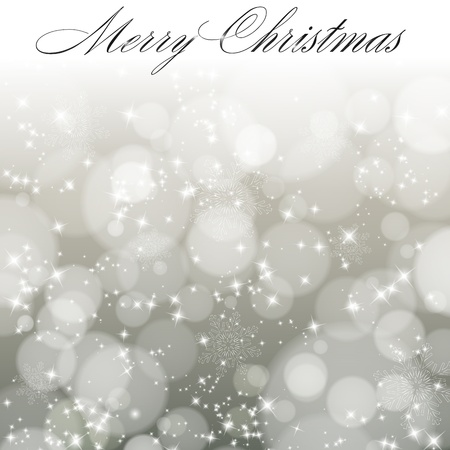 Abstract light grey christmas background with snowflakes. Vector eps10 illustration Vector