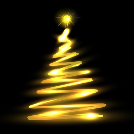 Christmas tree illustration Vector
