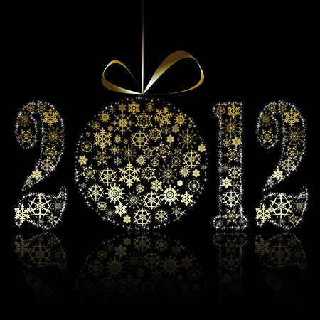New year 2012 symbol illustration Vector