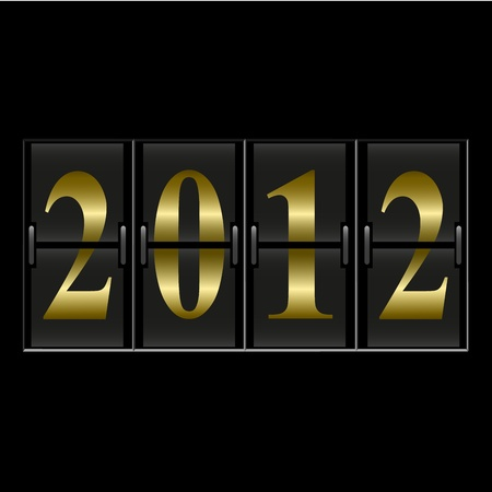 2012 New Year counter illustration Vector