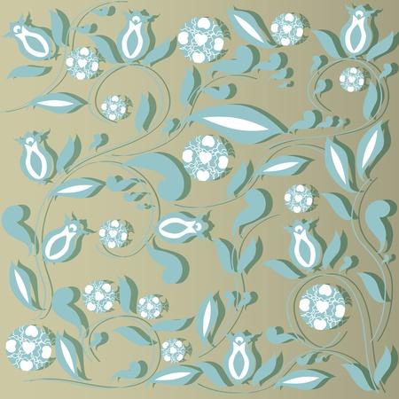 salient: Elegant floral vintage background.  illustration