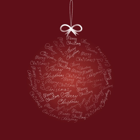 Christmas ball on red background. Vector   illustration  Vector
