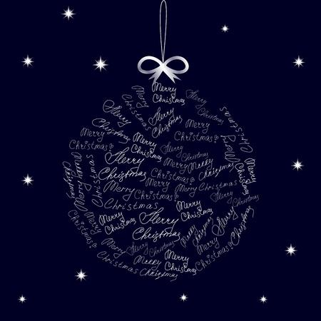 Christmas ball on blue background. Vector   illustration  Vector