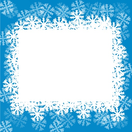 snowflake border: Blue background with snowflakes.  illustration