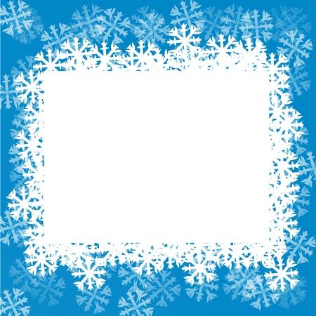 snowflake border: Blue background with snowflakes.  illustration
