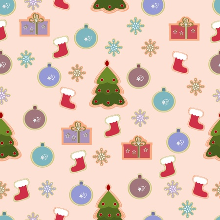 cristmas card: Christmas seamless vintage design.  illustration