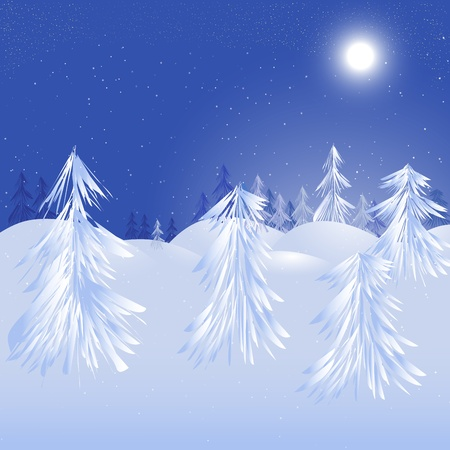 Magic winter design.   background Vector