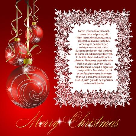 Christmas postcard  illustration Stock Vector - 11531535