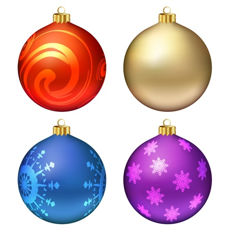 Christmas balls set.  illustration Vector