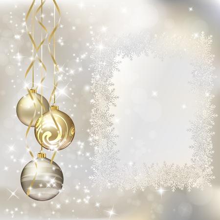 メリー クリスマスのグリーティング カード。図