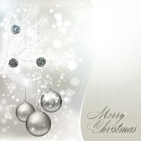 クリスマスのポストカードです。図