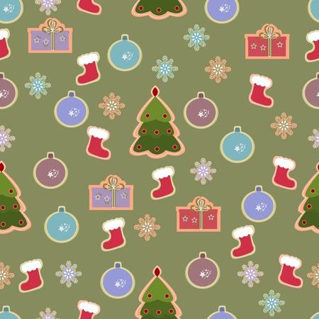 Christmas seamless vintage design.  illustration Stock Vector - 11531548