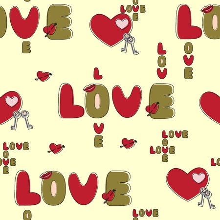Seamless love background.  Vector eps10 illustration Vector