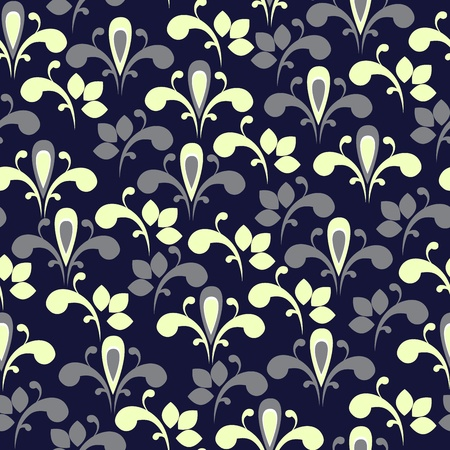 Elegant floral seamless background. Vector eps10 illustration Vector