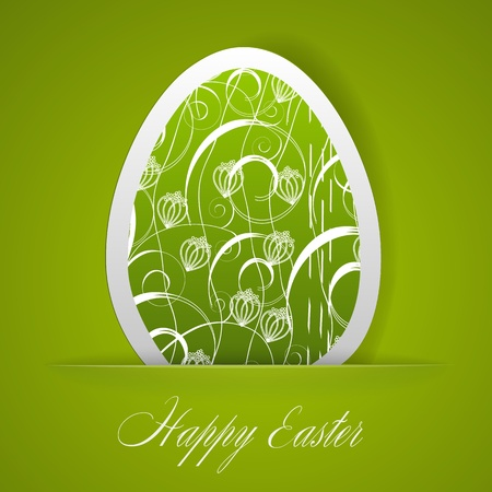 Happy Easter greeting card.  illustration Vector