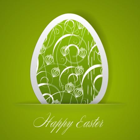 ester: Happy Easter greeting card.  illustration