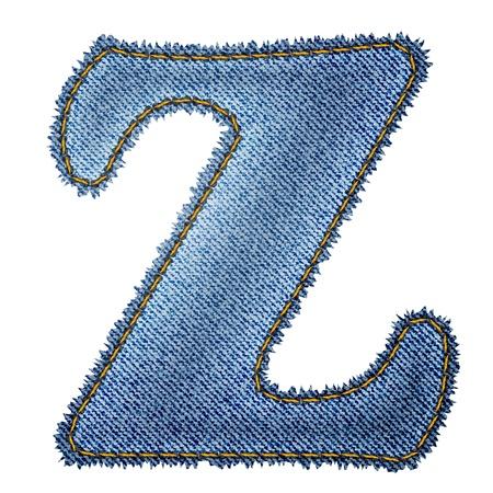 buchstabe z: Jeans Denim Alphabet Buchstaben Z Illustration
