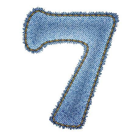 Jeans alphabet  Denim number 7