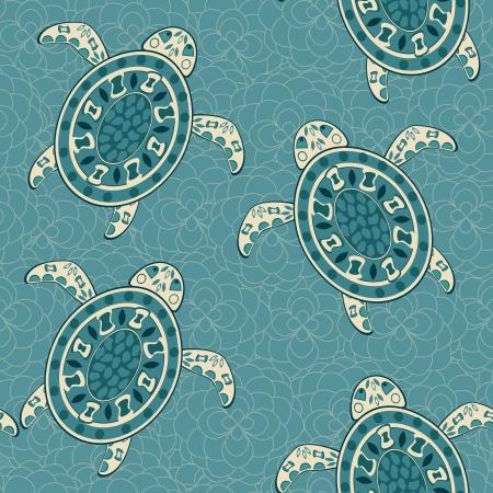 Seamless Turtles background.  illustration