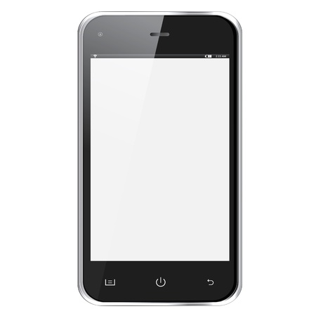 Mobile phone isolated on white background Vector