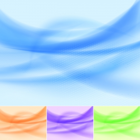 Set of abstract multicolored wave backgrounds.  Stock Vector - 14329076