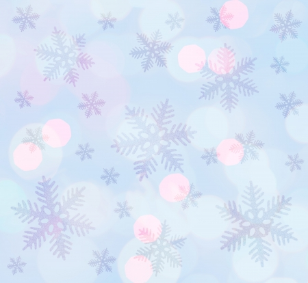 Light blue  christmas background with snowflakes Stock Photo - 15800003