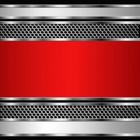 on metal: Resumen de antecedentes de negocio met�lico. Vectores